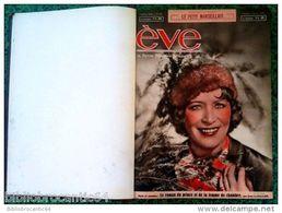 """Reliure: Revue Féminine Idéale """"EVE"""" 1/1/1939 Au 10/9/1939 (N° 953 Au N°989) (supplément Au """"Petit Marseillais) - Journaux - Quotidiens"""