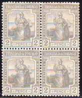 TRINIDAD & TOBAGO 1922 SG #209 2d MNH In A Block Of Four - Trinidad & Tobago (1962-...)