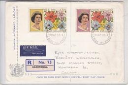 ENVELOPE DECIMAL CURRENCY SERIES. CIRCULEE CANADA. RECOMMANDEE 1968. COOK ISLAND.-BLEUP. - Cookeilanden
