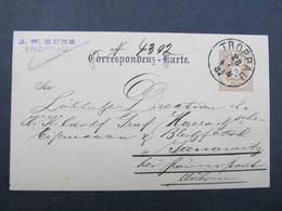 GANZSACHE Troppau Opava - Janowitz J.W.Kunz 1887 Korrespondenzkarte  /// D*31812 - 1850-1918 Imperium