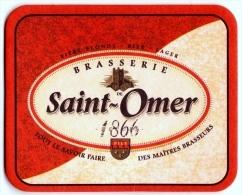 Sous-bock Bierdeckel Beer Mat Brasserie Saint-Omer Depuis 1866 Bière Française St Omer André Pecqueur Bier - Bierdeckel