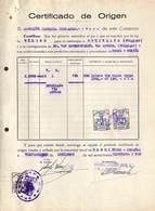 Certificado De Origen - Certificat D'origine 638 Litres Vin Rioha 1951 Pour Bruxelles, Via Anvers, Timbres - Spain