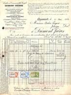 Dumont Frères - Distilleries Malteries à Chassart 1942 Pour Jodoigne (timbres, Bouteille Illustrée) - France