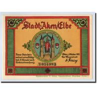 Billet, Allemagne, Aken, 50 Pfennig, Bateau, 1921, SPL, Mehl:8.1 - Germany