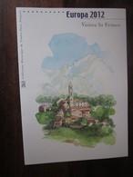Premier Jour - Collection Historique Du Timbre-poste Français - Europa Visitez La France (2012) - Documents Of Postal Services