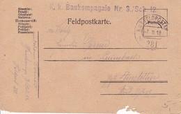 Feldpostkarte - K.k. Baukompagnie Nr. 3/Sch. 12 - 1918 (34821) - 1850-1918 Imperium