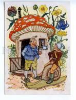 221919 GERMANY MCW Smoking Gnome Mushroom Snail OLD Postcard - Illustrators & Photographers