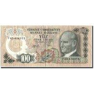 Billet, Turquie, 100 Lira, 1972-82, KM:189a, TTB - Turkey