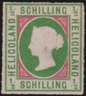 Heligoland     .   Michel    .    1   ( 2 Scans  )     .       (*)    .     Kein  Gummi - Helgoland