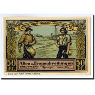 Billet, Allemagne, Alten Und Frauenbreitungen, 50 Pfennig, Eglise, 1921 - Germany