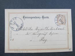 GANZSACHE Luditz Zlutice 1897 - Praha Korrespondenzkarte  /// D*31834 - Briefe U. Dokumente