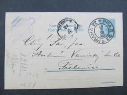 GANZSACHE Praha 22 Liben - Trebenice 1906 Korrespondenzkarte  /// D*31842 - 1850-1918 Imperium