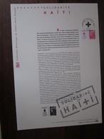 Premier Jour - Collection Historique Du Timbre-poste Français - Solidarité Haïti  (2010) - Documents De La Poste