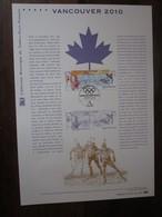 Premier Jour - Collection Historique Du Timbre-poste Français - Vancouver J O   (2010) - Documents De La Poste