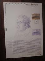 Premier Jour - Collection Historique Du Timbre-poste Français - William Turner  (2010) - Documents De La Poste