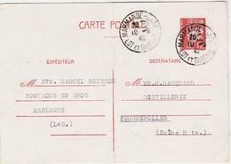 Carte Commerciale / Entier 1942 / Pétain 1 F20 / Ets Marcel BOISSON / Bouchons / 47 Marmande / Lot Et Garonne - Maps