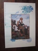 Premier Jour - Collection Historique Du Timbre-poste Français - L'eau Dans L'art (cheval) (2010) - Documents De La Poste