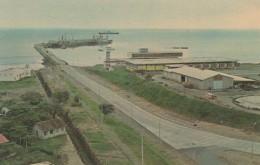 Acajutla Seaport Installation El Salvador, Sc#C212 Air Mail Stamp President Kennedy, 1960s Vintage Postcard - El Salvador