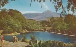 Atecozol National Park El Salvador, Izalco Volcano Eruption Of Smoke, Sc#C183 Air Mail Stamp, 1960s Vintage Postcard - Salvador