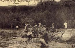 Congo Belge M'pala Pecheurs De Visschers  Entier Postal Posté De Kabalo 1924 - Congo Belge - Autres