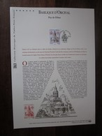 Premier Jour - Collection Historique Du Timbre-poste Français - Basilique D'orcival (2010) - Documentos Del Correo