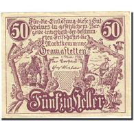 Billet, Autriche, Gramastetten, 50 Heller, Chasseur, 1920, 1920-05-01, SPL - Austria