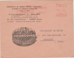 Enveloppe Commerciale / Publicité NEMRODINE Graisse Cirage Encaustique / 93 Pantin / EMA 1948 - Maps