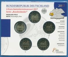 Deutschland 2 Euro 2017 Rheinland-Pfalz Originalsatz St OVP (m1464) - Germany