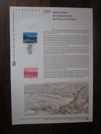 Premier Jour - Collection Historique Du Timbre-poste Français - 150e Anniv Du Rattachement De Nice à La France  (2010) - Documentos Del Correo