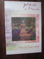 Premier Jour - Collection Historique Du Timbre-poste Français - Salon Du Timbre - Jardins De France Giverny  (2010) - Documents De La Poste