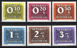 AUSTRIA - 1986 - CIFRA BIANCA SU FONDO DI COLORE - MNH - Postage Due