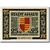 Billet, Allemagne, Ahaus, 25 Pfennig, Personnage, 1921, 1921-06-07, SPL - Germany
