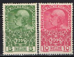AUSTRIA - 1914 - IMPERATORE FRANCESCO GIUSEPPE - PRO OPERE DI GUERRA - MNH - 1850-1918 Empire