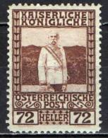 AUSTRIA - 1908 - IMPERATORE FRANCESCO GIUSEPPE - IN TENUTA DA MARESCIALLO - MNH - 1850-1918 Empire