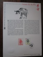Premier Jour - Collection Historique Du Timbre-poste Français - Horoscope Chinois - Année Du Buffle (2009) - Documents De La Poste