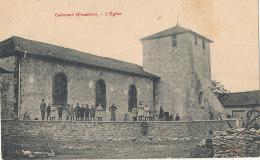 54 // COINCOURT    L'église  / Frontière - France