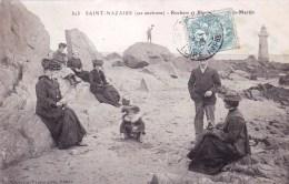 44 - Loire Atlantique -  SAINT NAZAIRE -  Rochers Et Phare De Ville Es Martin - Saint Nazaire