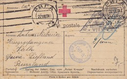 AK POW Kriegsgefangenenpost - Riga - Liefland - Rotes Kreuz - Zensur Moskau Und Wien - 1917 (34840) - Covers & Documents