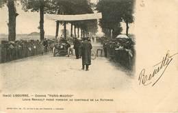 Dép 33 - Voitures - Automobile - Libourne - Course Paris Madrid - Louis Renault - Henry Guillier N° 2412 - état - Libourne