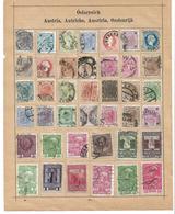 1560z: Altsammlung Auf Albumblatt: Österreich, Bitte Ansehen - 1850-1918 Empire