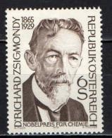 AUSTRIA - 1979 - RICHARD ZSIGMONDY  - PREMIO NOBEL PER LA CHIMICA - MNH - 1945-.... 2nd Republic