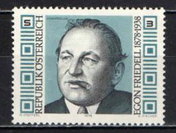 AUSTRIA - 1978 - E. FRIEDELL - SCRITTORE - MNH - 1945-.... 2nd Republic