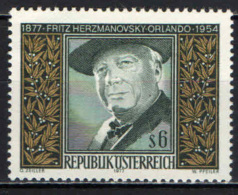 AUSTRIA - 1977 - FRITZ HERZMANOVSKY-ORLANDO - SCRITTORE - MNH - 1945-.... 2nd Republic