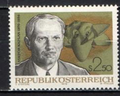 AUSTRIA - 1976 - VICTOR KAPLAN - INGEGNERE MECCANICO - MNH - 1945-.... 2nd Republic