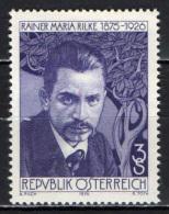 AUSTRIA - 1976 - RAINER MARIA RILKE - POETA - MNH - 1945-.... 2nd Republic
