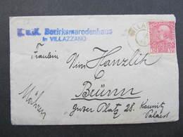 BRIEF Villazzano - Brünn 1915 /// D*31875 - Covers & Documents