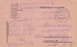 AK Feldpostkarte - K.k. Landw.-Inftr.-Reg. Nr. 21, 3. Arbeiter-Abteilung - 1915 (34842) - Covers & Documents
