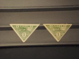 FIUME - PER GIORNALI - 1920 NAVE 1 + 1 VALORE(carta Bianca E Scura) - NUOVI(+) - 8. WW I Occupation