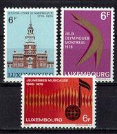 Luxemburg 1976 // Mi. 930/932 ** (023.486) - Luxembourg