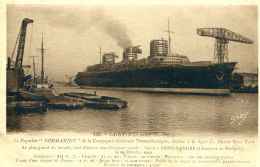 """N°62342 -cpa Saint Nazaire -le Paquebot """"Normandie"""" - Paquebote"""